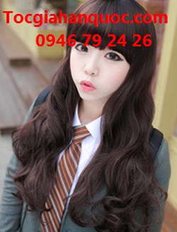 Ảnh số 29: Korea - xoăn nhẹ mái bằng Tóc có da đầu chịu nhiệt - Giá: 750.000