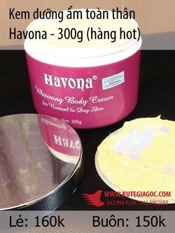 Ảnh số 45: Kem dưỡng ẩm toàn thân Havona 300g - Giá: 39.949.249