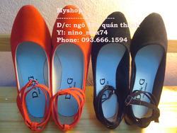 Ảnh số 2: Giày nhung đế bệt và 3 phân. Size: 35 - 40. Giá : 150k/đôi - Giá: 150.000