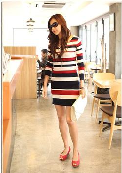 Ảnh số 9: Váy len kẻ ngang thời trang ( RX118) - Giá: 260.000