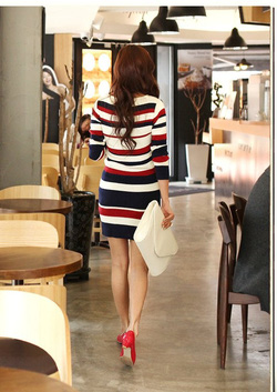 Ảnh số 10: Váy len kẻ ngang thời trang ( RX118) - Giá: 260.000
