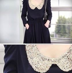Ảnh số 21: Váy thu cổ ren (RX90) - Giá: 185.000