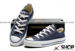 Ảnh số 3: Giày Converse Classic vải xanh navy - Giá: 199.000
