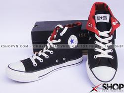 Ảnh số 9: Giày Converse Century cổ bẻ đen đỏ - Giá: 249.000