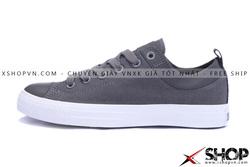 Ảnh số 37: Giày Converse Kaki Viền Da Ghi thấp cổ - Giá: 499.000