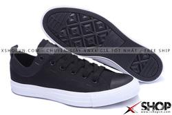 Ảnh số 52: Giày Converse Kaki Viền Da đen thấp cổ - Giá: 449.000