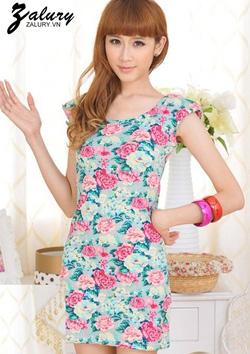 Ảnh số 61: Đầm ôm họa tiết hoa - Giá: 159.000