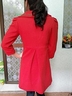 Ảnh số 5: Áo dạ đỏ bóc đô - Giá: 920.000