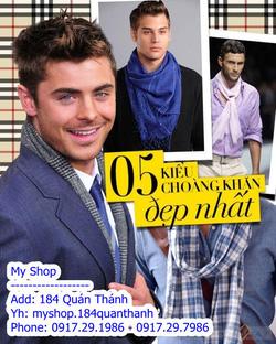 Ảnh số 80: 5 kiểu khăn quàng đẹp - Giá: 10.000