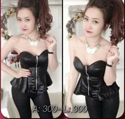 Ảnh số 1: Set áo ống cúp ngực, quần tregging S19 - Giá: 310.000