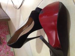 Ảnh số 10: giầy nhung cao gót - Giá: 300.000