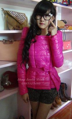 Ảnh số 37: áo phao hồng nơ đai - Giá: 530.000
