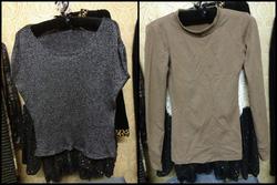 Ảnh số 31: áo sequin màu xám dáng xuông nhìn cực chơi và áo cổ tròn chất cực dày màu be đậm đồng giá 100k - Giá: 100.000