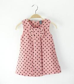 Ảnh số 8: Váy chấm bi nơ trước ngực  - Giá: 260.000