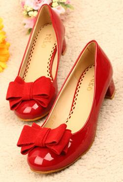 Ảnh số 29: Giày gót thấp có nơ CG29 - Giá: 440.000