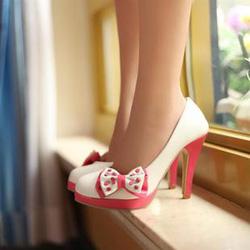 Ảnh số 43: Giày cao gót có nơ CG43 - Giá: 340.000