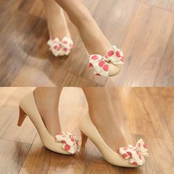 Ảnh số 54: Giày cao gót có nơ hồng CG54 - Giá: 300.000
