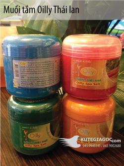 Ảnh số 14: Tắm muối Oilly Thái 750g (Cam, dưa leo, cà rốt, nghệ, sữa, hoa quả, cà chua,…) - Giá: 45.000