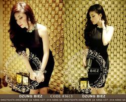 Ảnh số 7: Đầm body cổ đính đá đan lưng Dzung Biez - Giá: 100.000