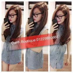 Ảnh số 18: Đầm jeans sát nách cổ sơmi Kim Khả Oanh - Giá: 120.000
