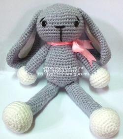Ảnh số 1: Thỏ xám đeo nơ xinh xắn 200K - Giá: 200.000