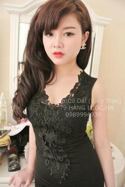 Ảnh số 21: Đầm body phối ren giữa cực sang Lucy Trần - Giá: 100.000
