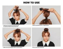 Ảnh số 16: Cách làm búi tóc tròn - Giá: 10.000