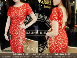 Ảnh số 6: Đầm ren nổi body xích lưng Dzung Biez - Giá: 115.000