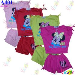 Ảnh số 3: Bộ đồ bé gái chuột Mickey hiệu OP r/7,bé 1t-8t - Giá: 1.000