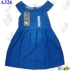 Ảnh số 71: Áo váy jean kẻ ô 377 ,r/7 - bé 1t-7t - Giá: 1.100