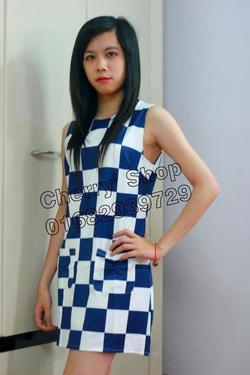 Ảnh số 3: Váy suông họa tiết bàn cờ - Giá: 280.000