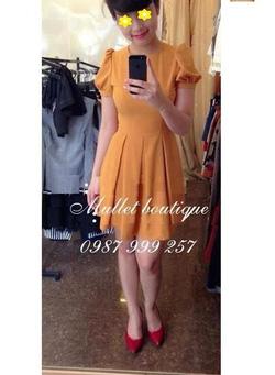 Ảnh số 73: Váy xoè vintage tay bồng - Giá: 180.000
