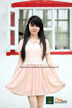 Ảnh số 20: Váy thân ren hoa ( MS V1005) : 220k màu: hồng ,tím than - Giá: 220.000