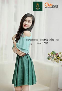 Ảnh số 68: Áo sơ mi khoet vai ( MS A1007) : 220K chân váy cạp hoa ( MS V1014) : 150k - Giá: 220.000