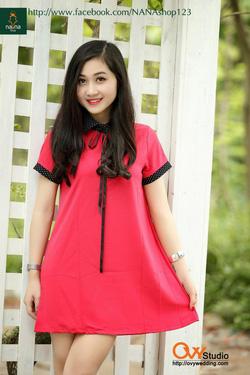 Ảnh số 85: Váy suông cổ chấm bi ( MS V1005) : 260k màu : hồng - Giá: 260.000