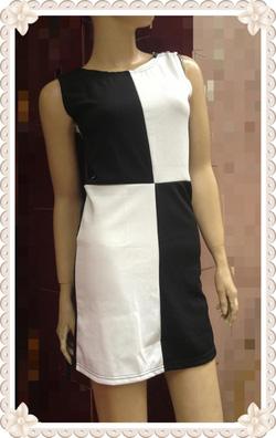 Ảnh số 65: Váy ba lỗ kẻ ô đen trắng đối xứng, chất thun dày dặn đẹp - 150k - Giá: 150.000