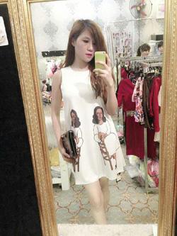 Ảnh số 12: Đầm thun sát nách hình cô gái Kim Móm - Giá: 95.000