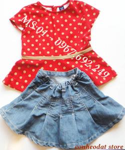 Ảnh số 4: Set áo váy bé gái từ 3 - 4 tuổi - Giá: 240.000
