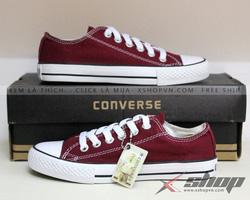 Ảnh số 83: Giày Converse Đỏ Mận - Giá: 199.000