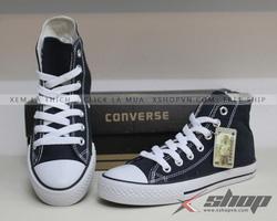 Ảnh số 8: Giày Classic vải xanh navy cao cổ - Giá: 220.000
