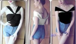 Ảnh số 72: áo thun kiểu helen so sexy - 180k chất liệu thun dày mịn màu đen,trắng - Giá: 180.000