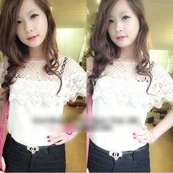 Ảnh số 77: áo voan phối ren tay con xinh nhen - 220k - Giá: 220.000