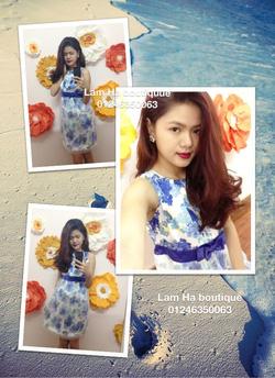 Ảnh số 19: Váy hoa xanh pha voan - Giá: 111.111