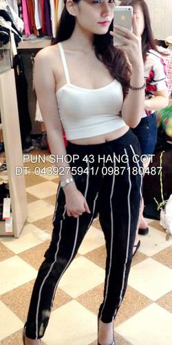 Ảnh số 44: áo crop dây chéo lưng pun - Giá: 110.000