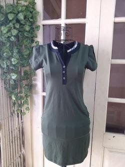 Ảnh số 38: Váy thun Burberry ngắn tay, free size, chất dày dặn, cúc ngực - 150k - Giá: 150.000