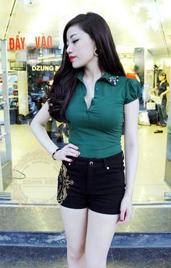 Ảnh số 52: áo phông tay bồng cổ đá dzung biez - Giá: 160.000