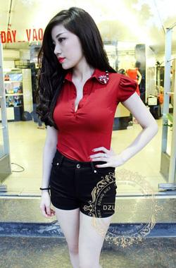Ảnh số 53: áo phông tay bồng cổ đá dzung biez - Giá: 160.000