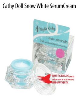 Ảnh số 22: Cathy Doll Snow White Serum Cream -Kem dưỡng siêu trắng ban đêm Face - Giá: 120.000