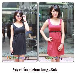 Ảnh số 70: Váy chấm bi chun lưng 280k - Giá: 280.000