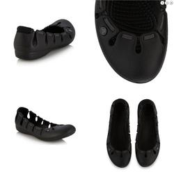 Ảnh số 8: X92: Crocs Black elasticated ballet pumps  size 37, 38, 40 - Giá: 320.000